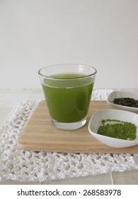 Sencha green tea with matcha
