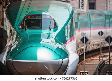 SENDAI, JAPAN-July 27,2017:The E5 Series Shinkansen bullet train network of high-speed railway lines in Japan on July 27, 2017 in Sendai Japan.