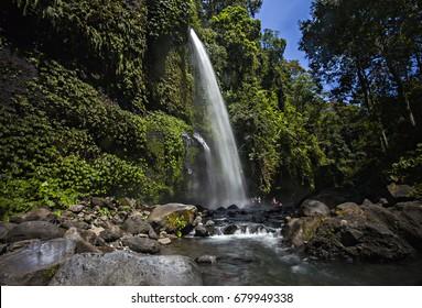 Sendang Gila Waterfall in North Lombok, Lombok Island, Indonesia