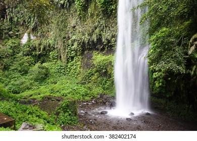 Sendang Gile waterfall near Rinjani, Senaru, Lombok, Indonesia, Southeast Asia