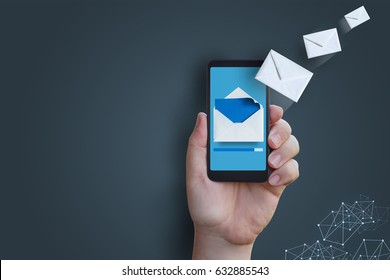 Sending a message with your phone concept design.
