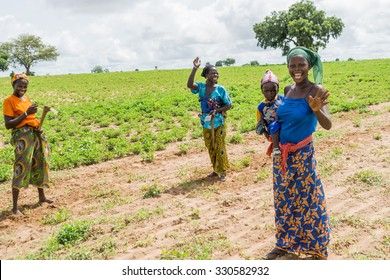 Senegal - August 19: Young, confident, and beautiful African women in the rural areas of Northern Senegal. August 19, 2015 in a rural areas of Senegal