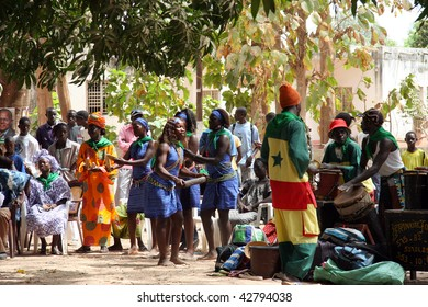 SENEGAL - FEBRUARY 18: Celebration in the streets on the occasion of the presidential elections, February 18, 2007 in Casamance, Senegal.