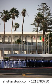 Léopold Sédar Senghor International Airport in Dakar, Senegal - March 12th 2013: Senegalese Armed Forces waiting for a Guest of the State at Dakar International Airport