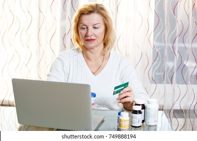 Senior 60-65 years old woman learning about Medicare coverage, health insurance,researching and buying medicines prescription online. Medicare concept