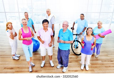 Senior Adult Exercise Activity Healthy Workout Concept