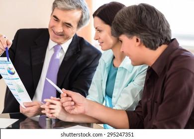 Senior Adult, Finance, Meeting.
