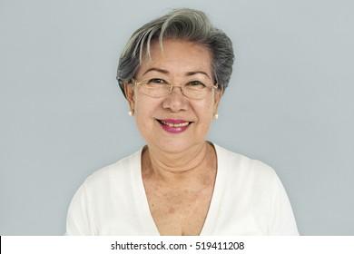 Senior Adult Women Smiling Happy Concept
