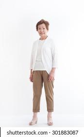 Senior Asian women,standing pose