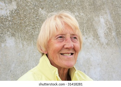 Senior Blonde Woman by the sea