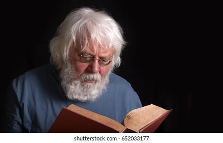 Senior with a book