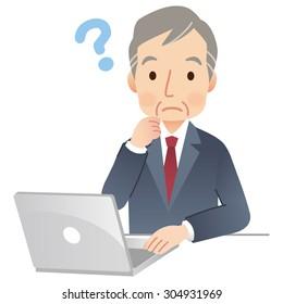 "senior business man ""Internet business"""