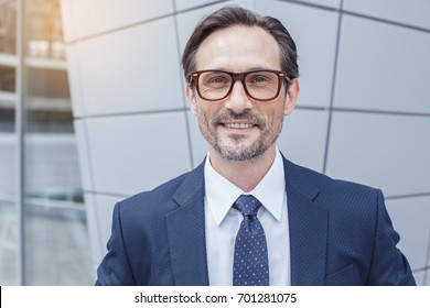 Senior business man outdoors urban background concept