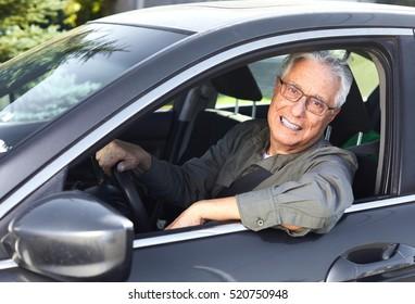 Senior car driver