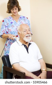 Senior chiropractic patient gets relief from neck pain through ultrasound technology.
