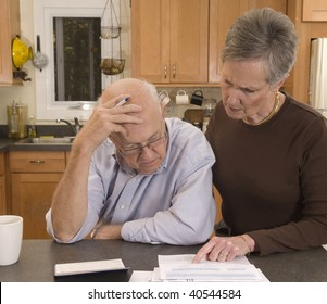 Senior couple concerned about paying bills