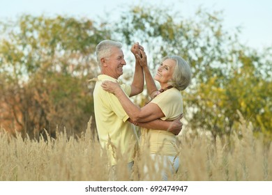 senior couple dancing