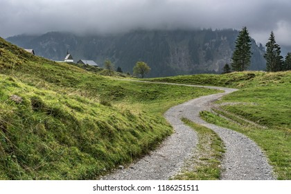 senior couple exploring the Bregenzer Wald in Vorarlberg, Austria, near Mellau and Damuels