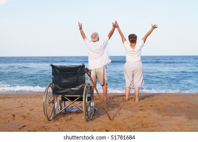 senior couple free from illness or disability