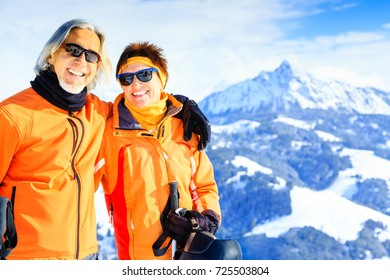 Senior Couple In The Mountains