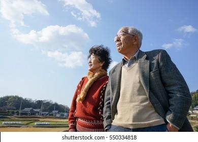 Senior couple with smile