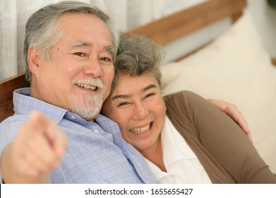 Senior couples who live happily together pay attention to each other without having children and grandchildren to look after.