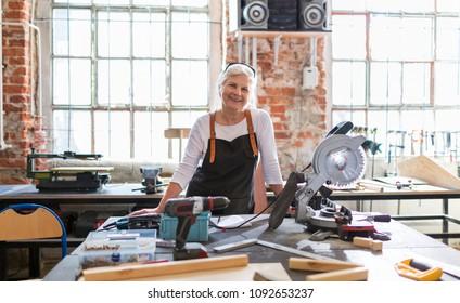 Senior craftswoman in her workshop