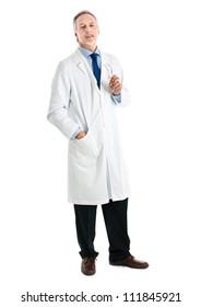 Senior doctor full length