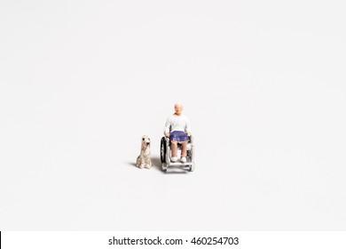 Senior and dog