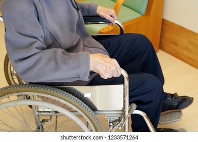 senior or elderly man patient on wheelchair in hospital
