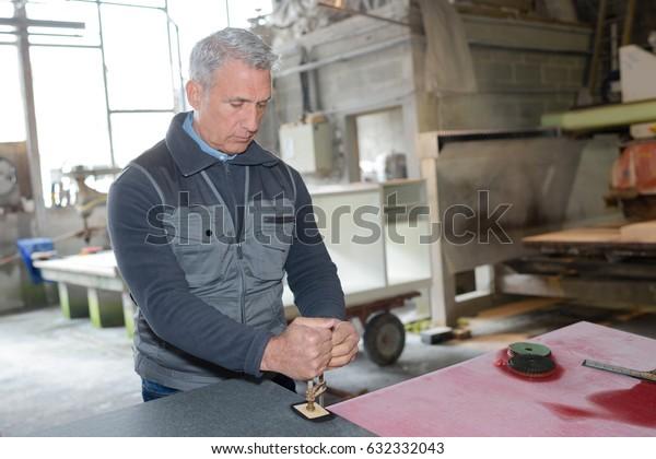 senior factory worker