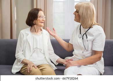 Senior female consultation with compassionate madical staff. See more Seniors in my gallery