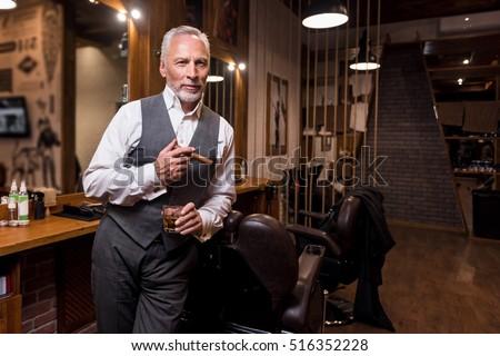 Senior gentleman standing with