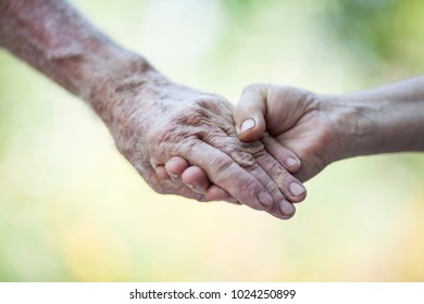 Senior Hands Holding