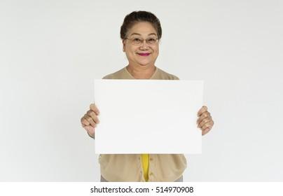 Senior Hold Postcard Advertising Concept