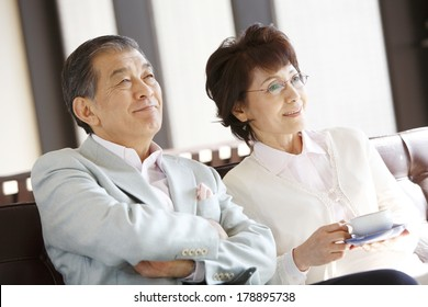 Senior japanese couple
