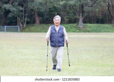 Senior Japanese men who exercise