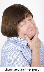 Senior lady 2, thinking