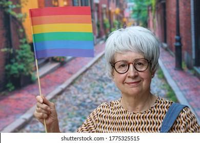 Senior LGBTQ+ member celebrating diversity