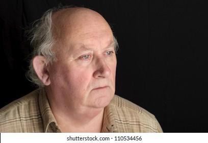 senior male close up portrait