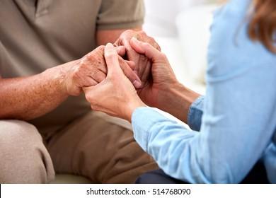 Senior man hands.