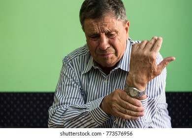 Senior man has wrist pain