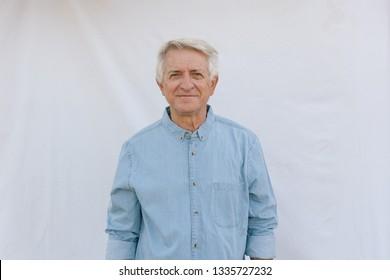 Senior man looking and smiling
