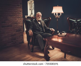 Senior man in luxury interior