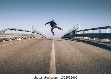 senior man on the empty road - direction and freedom concept - globetrotter wanderlust - moody style image