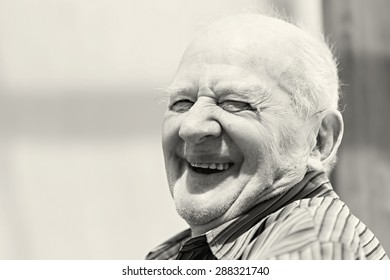 Senior man outside in the nature smiling