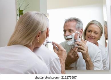 Nurse female Female patient shaved