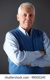Senior man studio portrait