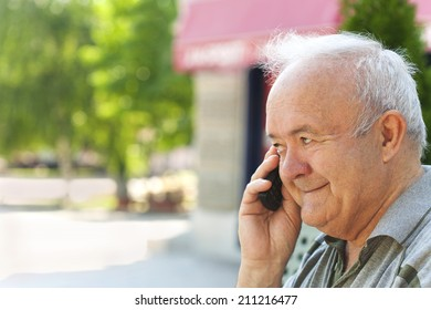 Senior man talking on the phone