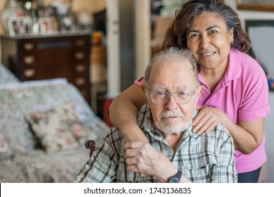 Senior Man with their Caregiver at Home. Concept of Health Care for Elderly Old People, Disabled